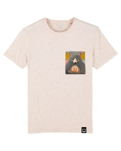 Tuli Tričko pro dospělé UNISEX Pastelově oranžové - Love is in the bear